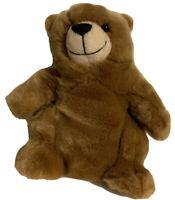 "Build A Bear Charmin Logo Plush Brown Bear 9"" Retired Super Soft Stuffed Animal"