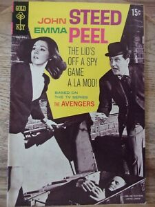 Steed and Peel Gold Key # 1 (1968) British TV's Avengers photo cover FINE 6.0