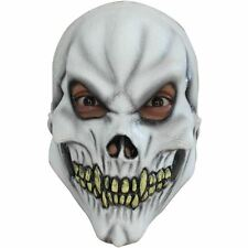 Boys Girls Skeleton Skull Halloween Fancy Dress Costume Latex Full Overhead Mask