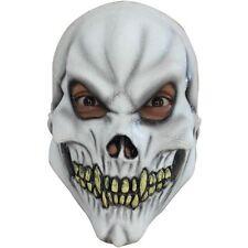 Boys Girls Skeleton Skull Halloween Fancy Dress Costume Latex Full Overhead Mask