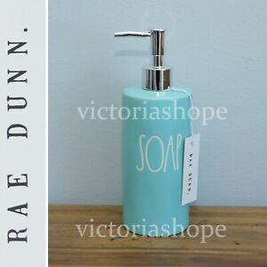 NEW Rae Dunn Bathroom/Kitchen Hand Soap Pump Dispenser~ SOAP ~ Tiffany Blue