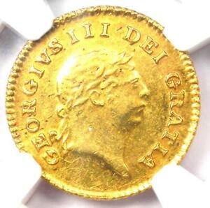 1808 Great Britain George III Gold 1/3 Guinea Coin 1/3G - Certified NGC AU58