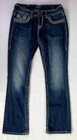 Vigoss Women's Juniors Thick Stitch The Dublin Boot Cut Jeans Size 9 EUC A3708