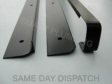 Kitchen Worktop Edging Strips, 30, 40mm End trim Corner, Straight, Black, Silver