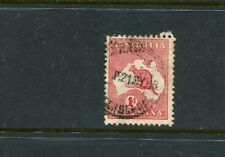 1' red first wm roo with sideways watermark  variety fine used