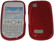 For Nokia Asha 201 / 2010 Pattern Gel Case Cover Protector Pouch Red New UK
