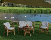 set completo salotto Bahama divano tavolino 2 poltrone arredo giardino
