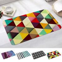 Retro Geometric Print Mat Carpet Kitchen Bathroom Anti-slip Floor Mat Area Rugs