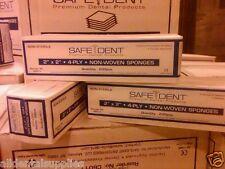 Dental 2x2 4 Ply Non Woven Ns Cotton Gauze Sponge 5000case Safedent C6011