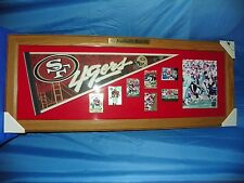 FOOTBALL'S BEST SAN FRANCISCO MEMORBILIA IN WOODEN FRAME NEW, HUGE FRAMED ART!