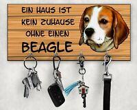 Hunde-Garderobe PURES GLÜCK Wandgarderobe Leinenhalter Leinengarderobe Wandboard