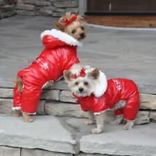 Dog Snowsuit Doggie Design Ruffin It Pink, Red, or Black