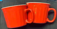 Set Of 2 Large 20 Oz Stoneware Drinking Soup Cup / Coffee Mug Red Royal Norfolk