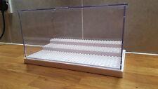 Lego Minifigure display case White base Disney star wars delorian