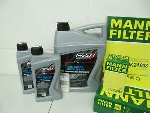 MANN Ölwechselsatz und 7Ltr. CAR 5W30-LL Motoröl BMW 5er F10/F11 und 7er F01