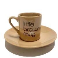 Bloomingdales Little Brown Mug BIA Espresso Cup & Saucer