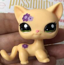 💖🐱Authentic Littlest Pet Shop #1962 Shorthair Cat +1 Random LPS Flower🌸 Green