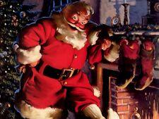 "Christmas Holiday Decoration Xmas Santa Claus St. Nick Fridge Magnet 4""x6""  #27"