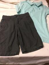 Boys Gapkids Linen/cotton Shorts Size 6 Carters Teal Polo Shirt Size 8
