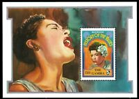 "GAMBIA 1192 (SG1279c) - Blues Musicians ""Billie Holiday"" S/S (pa79012)"