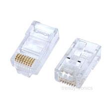 100 X Cat5e Rj45 Cat 5 Crimp enchufes Conectores Extremos