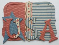 """Graphic 45 - USA - July - A Place in Time - Alphabet Chipboard Letters 1.5"""""""