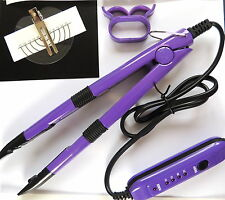 HOT FUSION HEAT CONNECTOR iron FOR  PRE-BONDED HAIR EXTENSIONS with instuctions