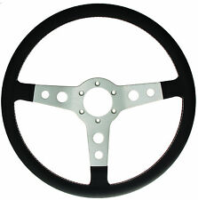 High Quality Italian Made  Classic Leather Steering Wheel 360mm Diameter
