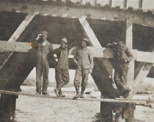 1913 OCCUPATIONAL BRIDGE WORKERS OVERALLS RPPC POSTCARD HOTCHKISS CO COLORADO