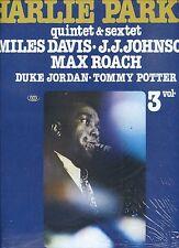CHARLIE PARKER  quintet & sextet MILES DAVIS jj johnson MAX ROACH near mint lp