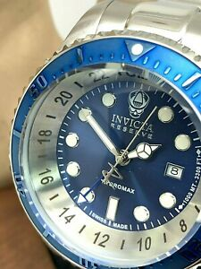 Invicta Men's Watch 16971 Reserve Hydromax Stainless Steel Blue Dial Quartz 52mm