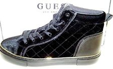 GUESS GAMEON2 BLACK FABRIC QUILTED VELVET HIGH-TOP FASHION SNEAKERS 8 1/2 M NIB