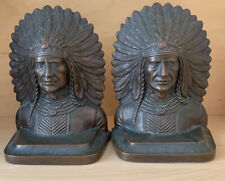 Jennings Brothers Indian War Jb 2061 Bronze Metal Art Statue Bookends Swastika