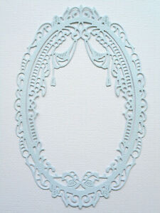 Oval Frame Elegant Die Cuts x 6 - made from Paper - Scrapbooking Card Topper