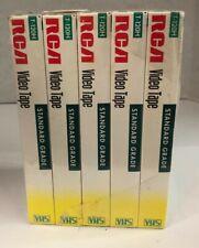 Lot of 5 Sealed Rca Video Cassette 6 Hour Standard Grade Vhs Blank Tape T120H