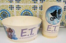 "1982 E.T. The Extra-Terrestrial Child""s Bowl & Tumbler By Deka Plastics - Unused"