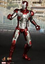 """1/6 Hot Toys MMS145 Ironman 2 Mark V Tony Stark 12"""" Action Figure Free Ship USA"""