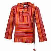 Unisex Nepal Baja Hoodie Pullover Sweatshirt Poncho Hippie Goa Surfer Fair