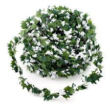 MINI Efeublatt- Gypsophila- Girlande, 15 Meter Draht, grün/weiß !!!