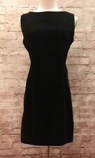 Vtg GAP Black Cotton Velvet Sleeveless Sheath Dress Sz 6 Party Holiday Cocktail