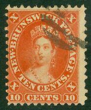 SG 17 New Brunswick 10c red. Very fine used CAT £75