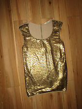 Oasis, gold sequin top size S