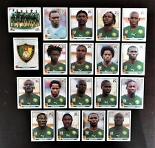 Panini FIFA World Cup South Africa 2010 Complete Team Cameroun + Foil Badge
