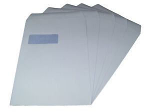 Packitsafe A4 Window Envelopes 324mm x 229mm Self-Seal White Standard Paper M...