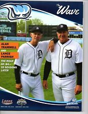 Lance Parrish Alan Trammell 2019 West Michigan Whitecaps program 1984 Tigers!