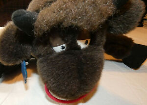 Vintage Ferdinand Bull Brown Plush Hand Puppet Applause +TAG Stuffed Toy COWBELL