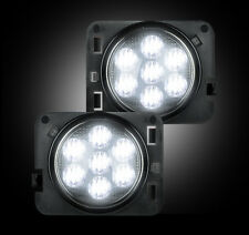 Recon 264135WHBK Black/Smoke LED Side Marker Lights for 07-17 Jeep Wrangler