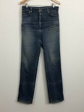 LEE Womens Vintage Blue Stretch High Rise Straight Leg Denim Jeans Size 12 14 16
