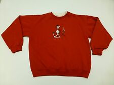 Classic Elements Womens Size Small Red Ugly Christmas Poodle Dog Sweatshirt
