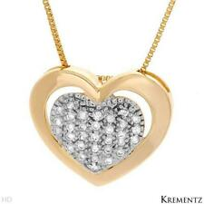 Krementz Necklace 14k Yellow Gold With Genuine 0.15ctw Diamonds. New